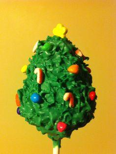 Christmas tree cake pop
