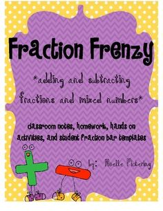 Fraction Frenzy - is a complete 10 day unit! It includes notes, homework, cooperative learning activities, and short assessment pieces. Aligned to TEKS. $7.00