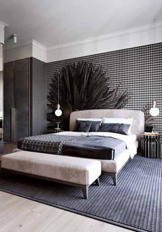 50 Phenomenal Modern Bedroom Ceiling Designs 2018 - Page 19 of 46 Master Bedroom Interior, Bedroom Ceiling, Modern Bedroom Furniture, Small Room Bedroom, Small Rooms, Bedroom Apartment, Bedroom Wall, Bedroom Decor, Bedroom Ideas