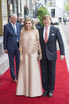 5 May 2017 - Queen Maxima and King Willem attend Amstel Concert - suit by Natan