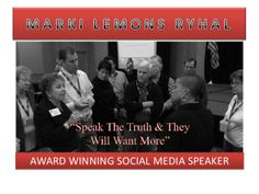 Marki Lemons-Ryhal provides social media education and social media training resources to help organizations train their staff. This will increase sales and reduce their spending on traditional marketing while leveraging the cost effective tool of social media and inbound marketing. All social media courses address any recent changes and new tools as they occur in real time.