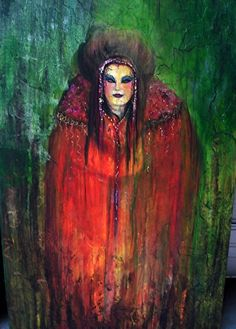 """Lady in the Wood by Betty Newman Mixed ~ 60"""" x 36"""""""