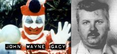 John Wayne Gacy (Killer Clown) was convicted of the torture, rape and murder of 33 males (1972-1978) #serialkillers