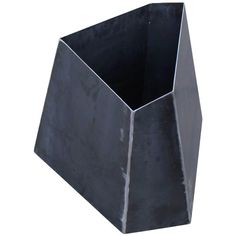 View this item and discover similar for sale at - Custom-made Corten steel planter. This type of steel will get a perfect rust patina but will not rot. Geometric shape looks incredible from all angles. Flower Planters, Garden Planters, Planter Pots, Tree Planters, Modern Planters, Concrete Projects, Metal Projects, Metal Drawing, Types Of Steel