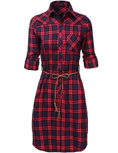 Plaid tunic dresses! So cute with leggings and boots! Most sizes under $24 shipped!