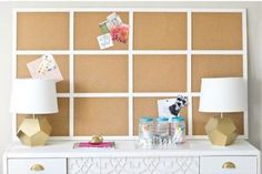 Impressive Ikea hacks for the office. Here are 7 fresh ways to reinvent your space from desk chairs to framed cork board to floating shelves to lamps to file holders! For more Ikea hacks visit Domino. Organisation Hacks, Office Organization, Organize Your Life, Organizing Your Home, Organising, Ikea Hacks, Ikea Cork, Ideas Para Organizar, Best Ikea