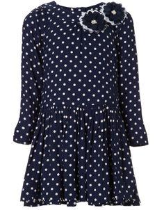 Spot Drop Waist Dress | Navy | Monsoon