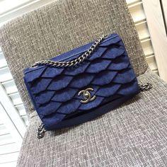 Chanel Denim Classic Flap Bag 2016 France