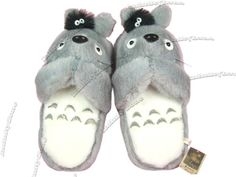 557b7e2e5be3 My Neighbor Ghibli Totoro Soft Plush Doll Slipper Slippers Anime Home Shoes  in Collectables
