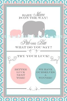 Juneberry Lane: Scratch-off Gender Reveal Cards!!  I ADORE this!!!
