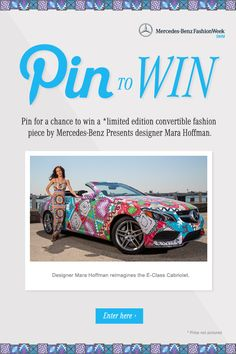 You're invited to enter for a chance to win a Mara Hoffman convertible fashion piece by designer Mara Hoffman. https://www.facebook.com/mercedesbenzusa/app_197604280401342?ref=ts ?