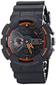💠 #stylefromachitownerseye 💠Casio Men's GA-110TS-1A4 G-Shock Analog-Digital Watch With Grey Resin Band: Casio: Watches