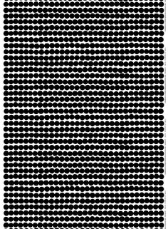 Marimekko | 'Räsymatto'. Heavyweight cotton - white, black
