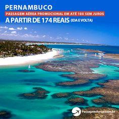 Voos promocionais para o Nordeste a partir de 174 reais ida e volta.  Saiba mais: https://www.passagemaerea.com.br/promocoes-recife.html  #recife #pernambuco #passagemaerea #viagem #ferias