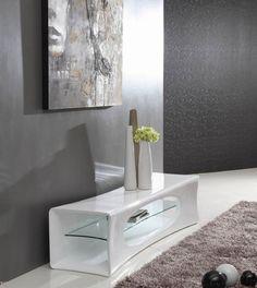 Modrest Geo - Contemporary White TV Stand
