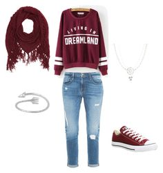 """""""casual"""" by princess-sally on Polyvore featuring Frame Denim, Charlotte Russe and Converse"""