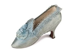 Sky blue French satin shoes | Shoe-Icons | c. 1780 I am so inspired by this lovely shoe!