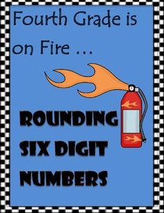 Rounding Six Digit Numbers - Memory Match Game Math For Kids, Fun Math, Math Games, Math Activities, 4th Grade Math Worksheets, Daily 5 Math, Fourth Grade Math, Teacher Lesson Plans, Homeschool Math
