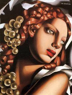 Woman with Red Hair | Tamara de Lempicka | via tumblr
