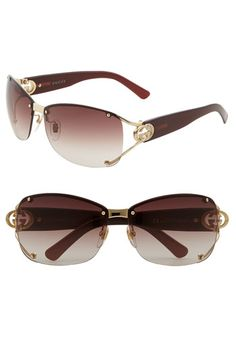 Gucci 62mm Open Temple Special Fit Rimless Sunglasses | Nordstrom