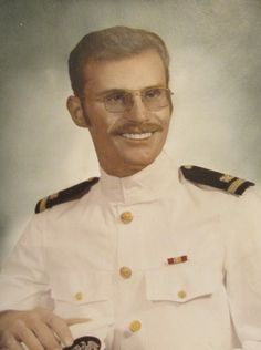 This was Ensign Edwin Morgan of Port Charlotte when he graduated from Officers Candidate School at New Port, R.I. in 1973. He was 23. Photo provided