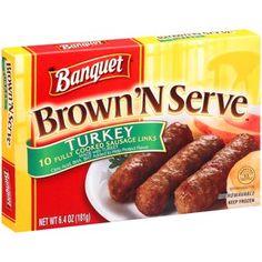 ... turkey sausage links 6 4 oz 10 count banquet brown n serve turkey