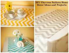 DIY Chevron Pattern Home Decor Ideas and Projects By Rose Clearfield