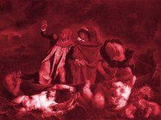Obra A Barca de Dante, de Eugène Delacroix.