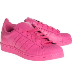 ADIDAS X PHARRELL WILLIAMS Superstar Supercolor Semi Solar Pink //... (355 PEN) ❤ liked on Polyvore featuring shoes, sneakers, chaussure, adidas trainers, leather flat shoes, genuine leather shoes, real leather shoes and adidas