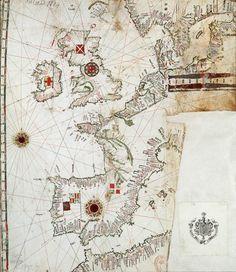Map of the North-East Atlantic Ocean, sixteenth century