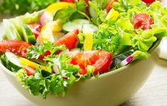 food, cucumbers, salad, tomatoes, parsley, pepper, bow