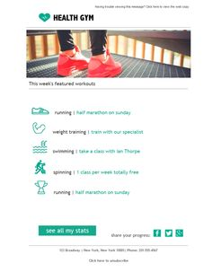 email templates for fitness centers gyms 110 people found 10