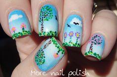 31DC2014: Dots - Spring scene ~ More Nail Polish