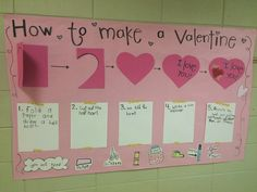 How to Make a Valentine {interactive writing chart}