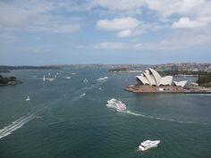 From the pylon, Sydney Harbour Bridge, Sydney, Australia.