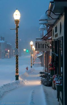 winter in maine, winter in england, winter holiday, beauti, winter scenes, place, light, christma, maine winter