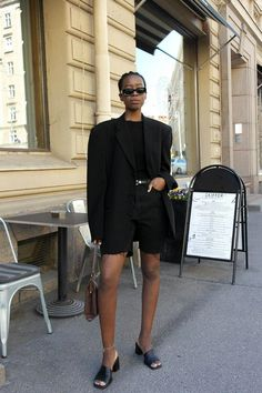 Image result for black girl rocking oversized shirts and biker shorts