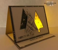 Festival of Trees Fun Fold and Glowing Window by Stamps-n-lingers - Cards and Paper Crafts at Splitcoaststampers