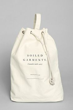 utilitarian chic laundry bag