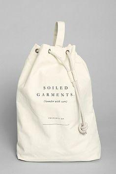utilitarian chic laundry bag