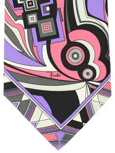 Emilio Pucci Tie Pink Lilac Signature Design -#EmilioPucci Designer Ties, Pink Ties, Signature Design, Emilio Pucci, Men's Collection, Discount Designer, New Product, Lilac, Fabric