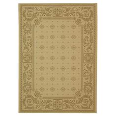 Anchor your patio seating group or define space in the den with this lovely indoor/outdoor rug, featuring medallion accents and scrollwork detailing for styl...