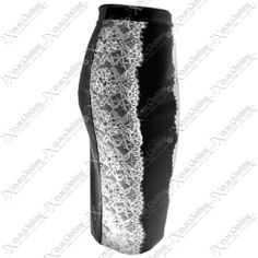 WOMENS BODYCON LACE SIDE STRETCH PENCIL SKIRTS LADIES LONG SLIMMING MIDI SKIRT | eBay #style #fashion #clothing #shopping