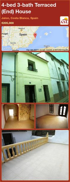 Terraced (End) House for Sale in Jalon, Costa Blanca, Spain with 4 bedrooms, 3 bathrooms - A Spanish Life