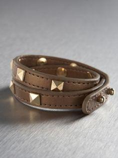 Bronze Studded Wrap Bracelet