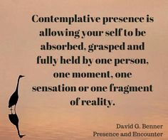 Contemplative presence
