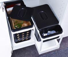 Handig afvalbaksysteem