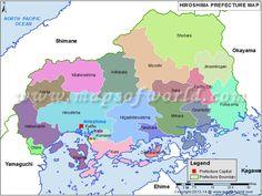 HIROSHIMA MAP PRINT Customizable Colors by EncoreDesignStudios