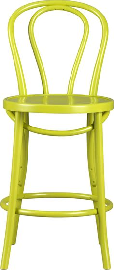 Vienna Green Bar Stool - contemporary - bar stools and counter stools - Crate&Barrel Green Bar Stools, Painted Bar Stools, Pantone 2017 Colour, Pantone Greenery, Contemporary Bar Stools, Color Of The Year 2017, Paint Bar, Bentwood Chairs, Dining Chairs