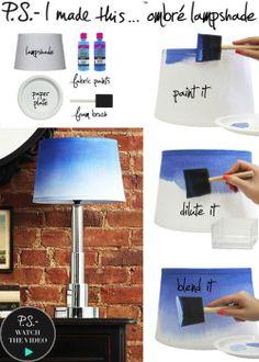 DIY - ombré lampshade
